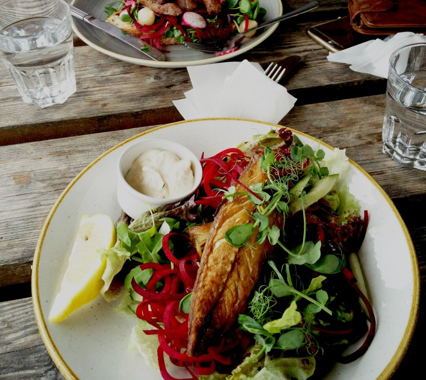 Mackerel salad from Godrevy Cafe
